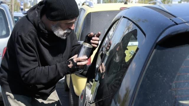homelessness - beggar stock videos & royalty-free footage