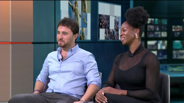 world's big sleep out aims to reduce homelessness england london gir int josh littlejohn and jamelia live studio interview sot - homelessness stock videos & royalty-free footage