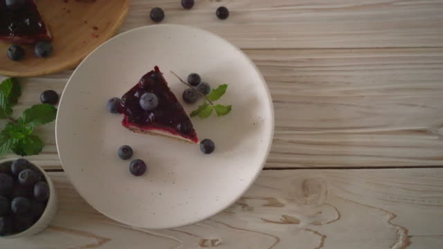 homemade blueberry cheese cake