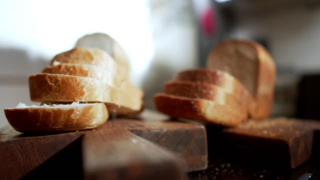 homemade bread - wholegrain stock videos & royalty-free footage