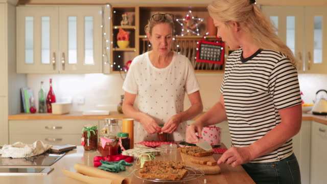 homemade christmas gifts - toffee stock videos & royalty-free footage