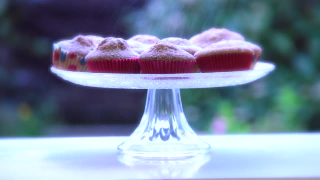homemade cupcakes - sprinkling stock videos and b-roll footage