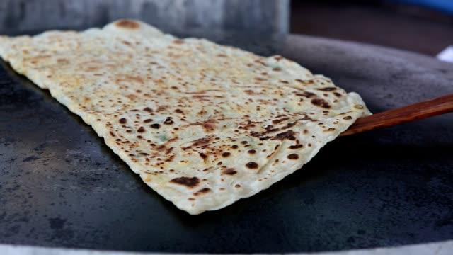 homemade flat bread - tortilla flatbread stock videos & royalty-free footage