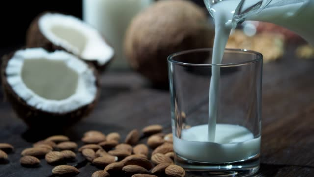 homemade non diary milk - coconut stock videos & royalty-free footage