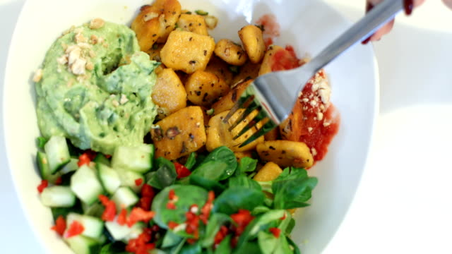 homemade red italian gnocchi with sweet potato - red potato stock videos & royalty-free footage
