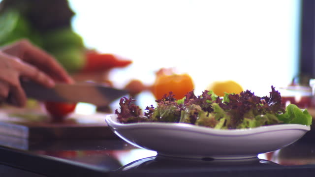 homemade salad. - food and drink stock videos & royalty-free footage