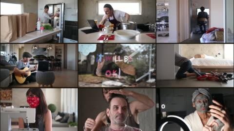vídeos y material grabado en eventos de stock de diy casa casera pareja durante covid-19 - pasatiempos