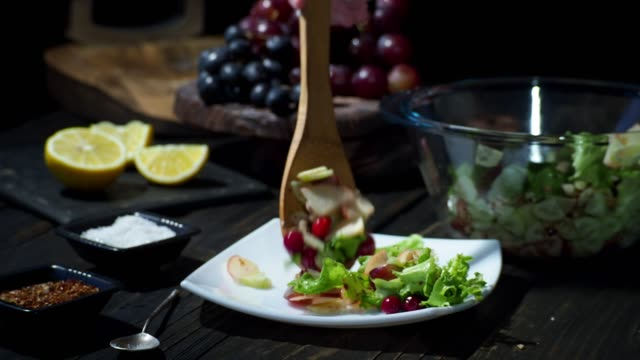 homemade waldorf salad - cranberry stock videos & royalty-free footage