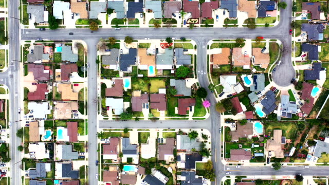 homes in orange county, california - housing development stock videos & royalty-free footage