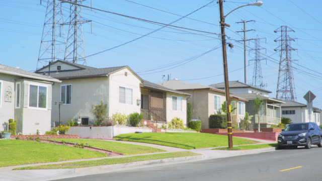 Homes with Power Lines - Day