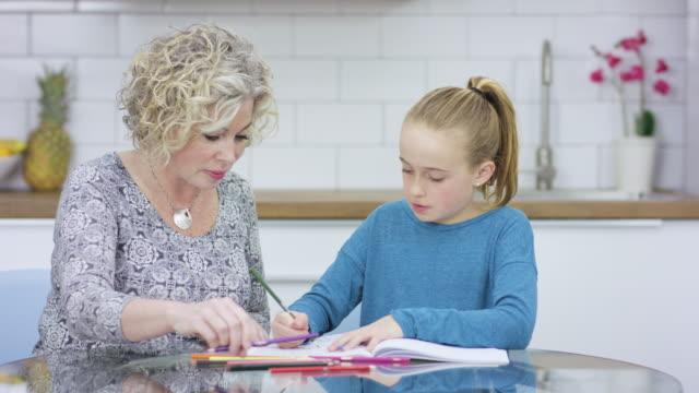 homeschooling - kind im grundschulalter stock-videos und b-roll-filmmaterial