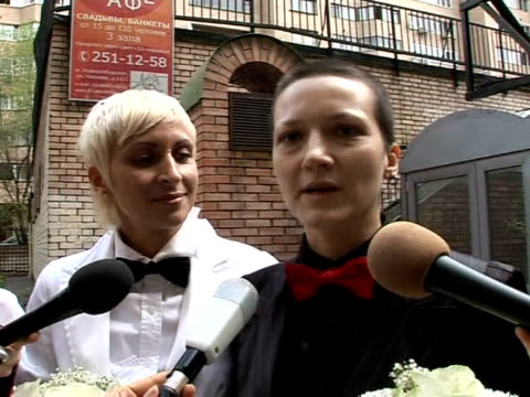 homosexuality has been legal in russia for 16 years but gay men and women still face widespread homophobia now for the first time a lesbian couple... - homophobia stock videos and b-roll footage