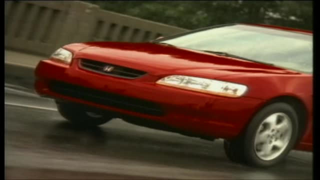 honda accord coupe - honda stock videos & royalty-free footage