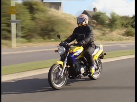 honda cb500 - biker jacket stock videos and b-roll footage