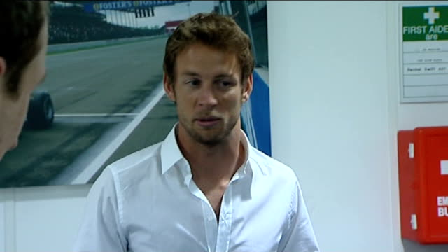 honda formula one team put up for sale; jenson button interview sot - first couple of hours was the most painful but then thought whats the point of... - honda bildbanksvideor och videomaterial från bakom kulisserna
