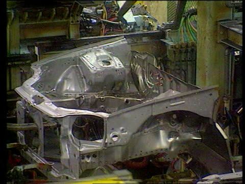honda to cut producton at swindon lib mss cars being produced on production line - honda stock videos & royalty-free footage