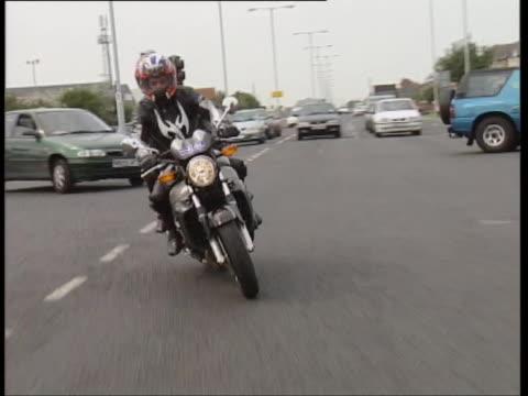 honda x11 - biker jacket stock videos and b-roll footage