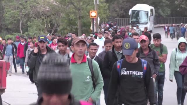 honduran families including young children continue their journey on foot to the united states walking and sleep rough in the hope the country of us... - emigration and immigration stock videos & royalty-free footage