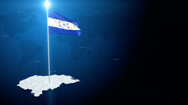 Honduras 4k flag