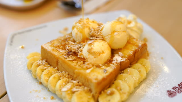 honey toast bread - french culture stock videos & royalty-free footage