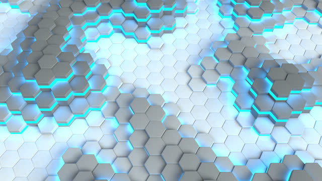 honeycomb abstract dynamic pattern - liyao xie stock videos & royalty-free footage