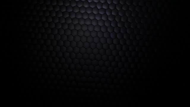 vídeos de stock e filmes b-roll de favo de mel grelha rede fundo, luz show, loop - vinheta