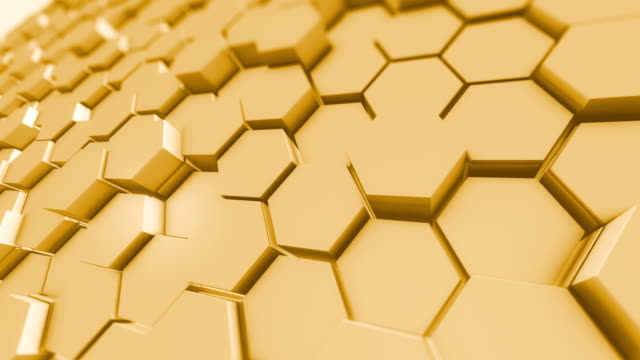 honeycomb pattern abstract backgrounds hexagon shapes 4k loopable - pattern stock videos & royalty-free footage
