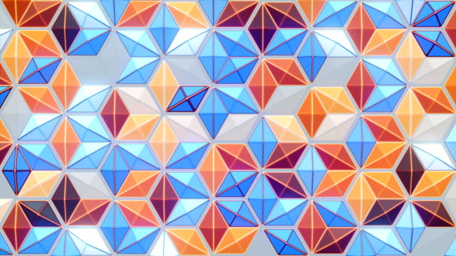 honeycomb style pattern loop animation background. decorative design element. 3d rendering. 4k, ultra hd resolution - design element stock videos & royalty-free footage