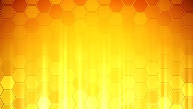 Bienenwaben Wand Gelb