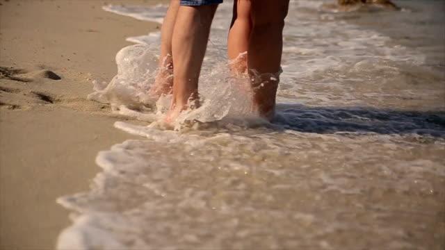 Flitterwochen Sie am Strand, b-roll
