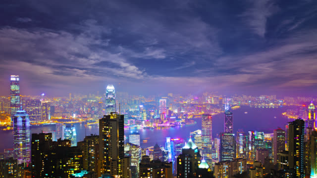 hong kong aerial view - hong kong stock videos & royalty-free footage