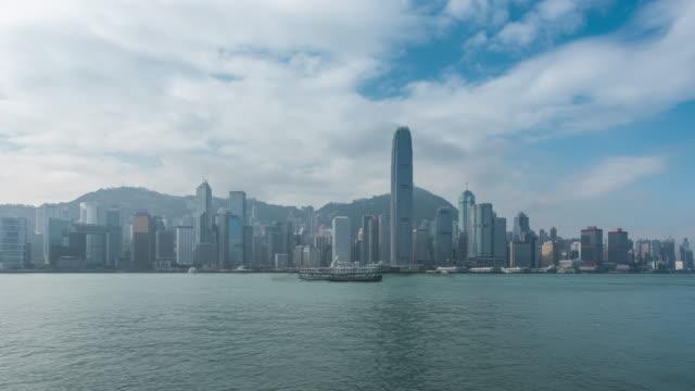 hong kong and passing boats - promenade stock videos & royalty-free footage