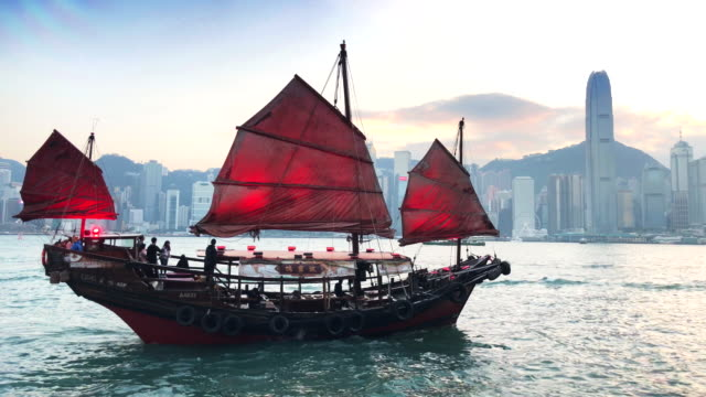 hong kong aqua luna - ship stock videos & royalty-free footage