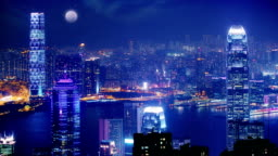 Hong Kong at Night.