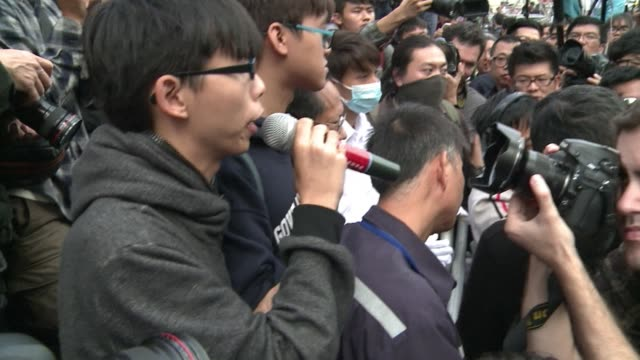 hong kong authorities clear a small part of the citys main pro democracy protest camp the first of several planned evictions to shrink mass sit ins... - occupy central stock videos & royalty-free footage