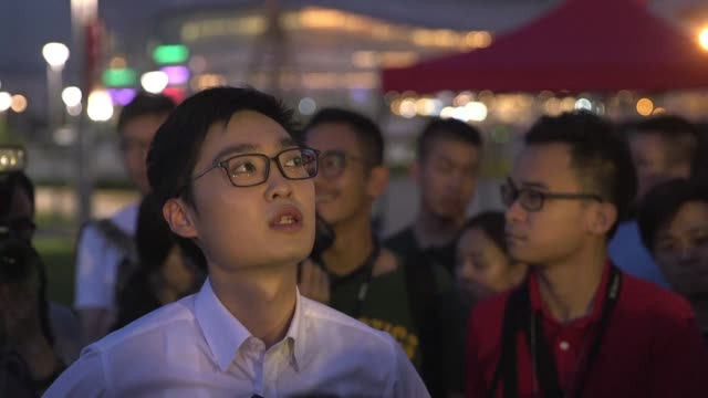 vídeos y material grabado en eventos de stock de hong kong banned a political party which promotes independence on monday saying it was a threat to national security as beijing ups pressure on any... - noreste de china