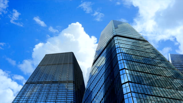 hong kong buidling timelapse low angle - office block exterior stock videos & royalty-free footage