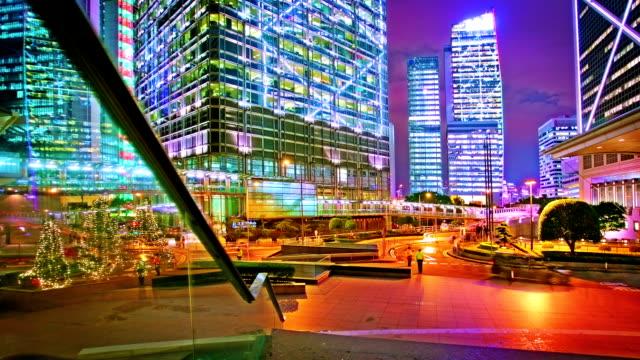 hong kong business district. - insel hong kong island stock-videos und b-roll-filmmaterial