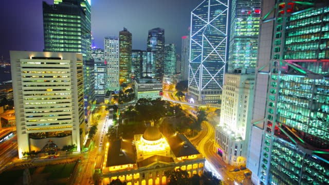 hong kong business district - central district hong kong stock videos & royalty-free footage