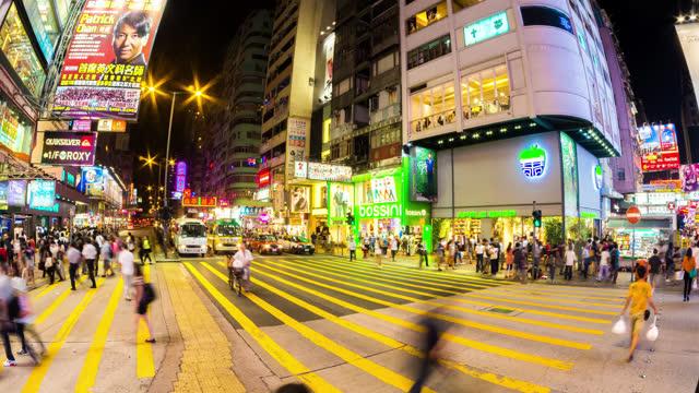 hong kong causeway bay in timelapse - 2013 stock videos & royalty-free footage