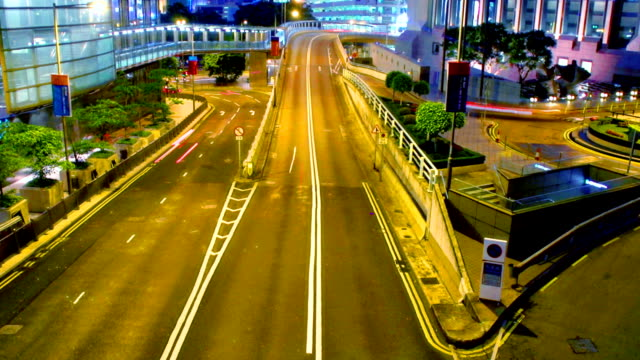 time lapse - hong kong central traffic - hsbc main building stock videos and b-roll footage