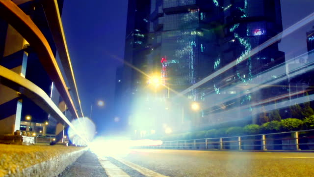 time lapse - hong kong central traffic - crossroad stock videos & royalty-free footage