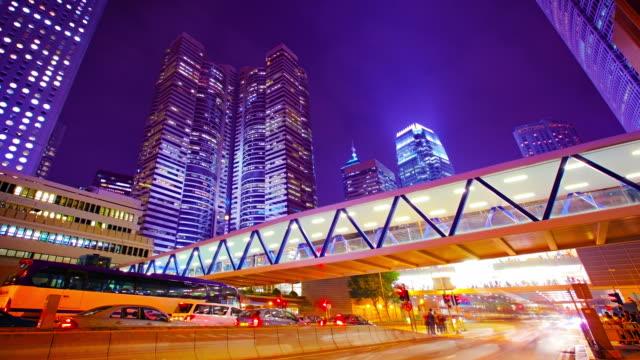 vidéos et rushes de le centre de hong kong - signalisation