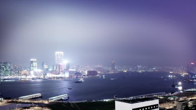 中国香港の街並み - ビクトリアピーク点の映像素材/bロール
