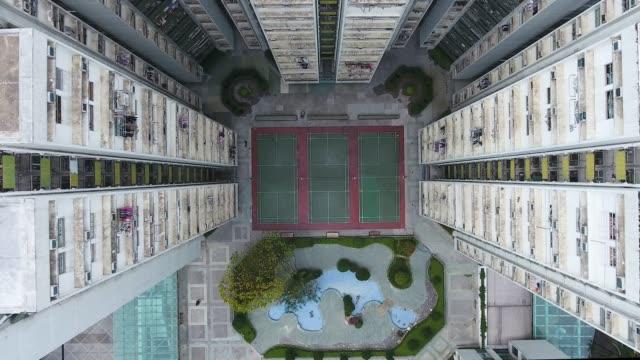 vidéos et rushes de appartements à hong kong city - terrain de jeu