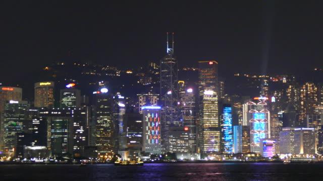 Ciudad de Hong Kong en la noche