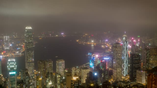 stockvideo's en b-roll-footage met hong kong stad centrum op overwinning punt - hong kong