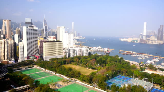 stockvideo's en b-roll-footage met hong kong stad van bovenaanzicht - hong kong