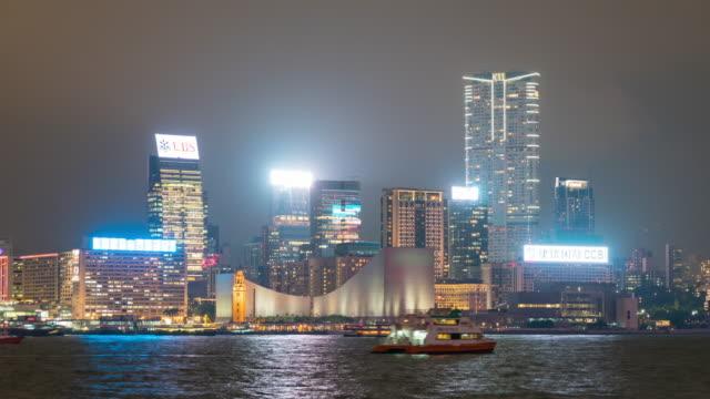 stockvideo's en b-roll-footage met 4k tl: hong kong city in de nacht. - hong kong