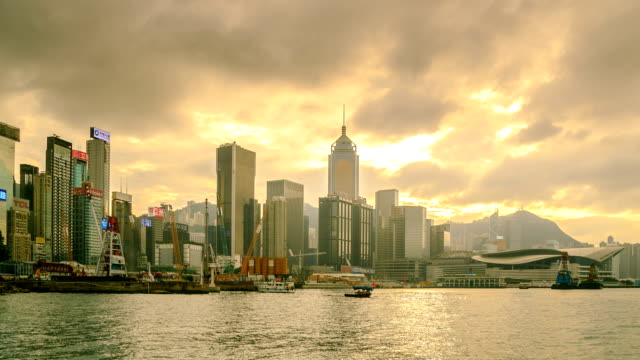 Hong Kong City Side View Island Panning